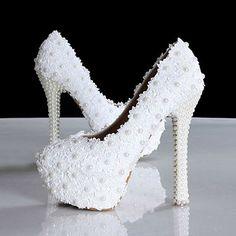 Barato Nova chegada sapatos de casamento sapatos de noiva de salto alto com pérolas 14 cm sapatos de salto Prom sapatos de casamento, Compro Qualidade Bombas das mulheres diretamente de fornecedores da China:                    Bem-vindo à nossa loja                            Red Rose Flower Wedding Shoes Platforms Rhinestone