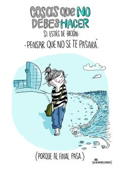 """Ilustración con frases motivadoras: Agustina guerrero · illustration """"what not to do when you're feeling down: think it won't pass. Charles Bukowski, More Than Words, Some Words, Cassandra Calin, Albert Schweitzer, When Youre Feeling Down, Mr Wonderful, The Ugly Truth, Positive Mind"""