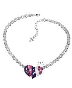 Κολιέ καρδιά από ορείχαλκο της Guess    63€   http://www.kosmima.gr/product_info.php?manufacturers_id=32_id=14431