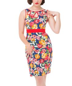Look at this HEARTS & ROSES LONDON Blue Amelia Wiggle Dress - Plus Too on #zulily today!