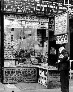 Jewish Shop in New York City ~ Lower East Side, Manhattan Andreas Feininger New York Architecture, Architecture Images, Jewish History, Jewish Art, Lower East Side, Vintage New York, Vintage Photographs, Old Photos, Manhattan