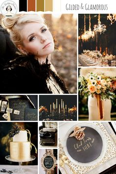 A Gilded and Glamorous All Hallows' Eve – Wedding Inspiration in Gold and Black