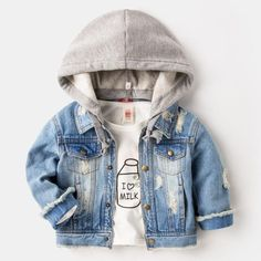 Baby Boy Coat Children Outerwear Enfant Demin Hooded 2017 Winter New Kid Children Clothes Jacket Bobo Bebe Cotton Outfit Toddler Boy Fashion, Little Boy Fashion, Toddler Outfits, Baby Boy Outfits, Kids Outfits, Baby Frocks Designs, Boys Summer Outfits, Usa Baby, Trendy Baby Clothes