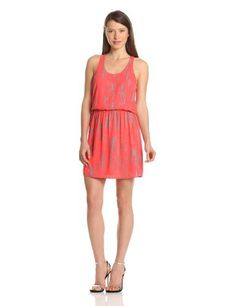 eight sixty Women's Bamboo Print Racer Back Cinch Waist Dress, Neon Coral, X-Small eight sixty,http://www.amazon.com/dp/B00BIWR82W/ref=cm_sw_r_pi_dp_7dZGrb79DF774D99