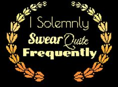 I Solemnly Swear Cross Stitch Pattern Modern, Funny Cross Stitch, Pattern PDF, Funny Quote Cross Stitch, Modern Cross Stitch, Rude Cross This PDF counted cross stitch pattern available for instant download. Floss: DMC Fabric: AIDA 14-count ( other AIDA Fabric Counts may be used, the finished pattern will be different in size) Number of Colors: 1 Black and White Pattern 6 Color Patterns Full Cross stitches only Size: 162 x 123 stitches ( 11.57 x 8.79 on 14 ct Aida) There is no background t...