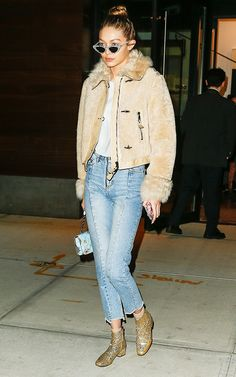 Gigi Hadid pulled her flashy boots from 3 years ago out of the depths of her closet, and we're glad she did. See them for yourself here.