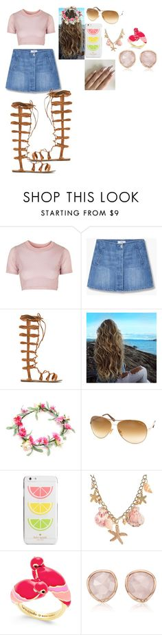 """""""bright day to be out and play"""" by bettyboop2001 on Polyvore featuring Topshop, MANGO, Raye, Tom Ford, Kate Spade and Monica Vinader"""