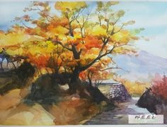 South Korea, Pastel, Painting, Water Colors, Cake, Painting Art, Korea, Paintings, Painted Canvas