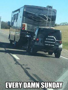 Avoid single lane highways. - Imgur