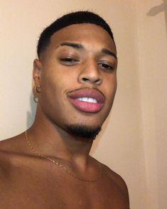 Just Beautiful Men, Beautiful Men Faces, Black Boys, Black Men, Close Up, Big Lips, Dark Skin Tone, Black Couples, Jawline