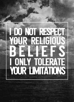 I try but I am not able to meet intolerance with tolerance. I am trying to better myself daily though