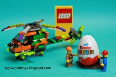 Lego helicopter and kinder surprise