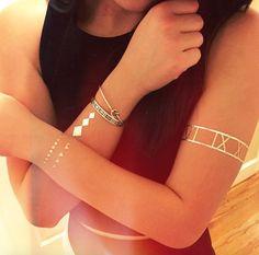 TribeTats Metallic Tattoos  <3  Shop the Look: www.tribetats.com