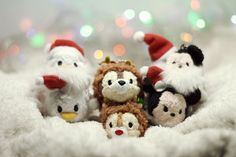 """itstsumtsum: """" Happy Ho-Ho-Ho to you! Disney Tsum Tsum: Donald Duck and Daisy, Chip and Dale, Mickey and Minnie - Christmas 2015 Keychain Tsum Tsum Collection @ Disney Stores in Japan """""""