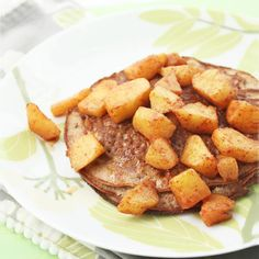 Low Carb Crepes w/ Warm Apple Compote (Gluten Free) #IBreatheImHungry