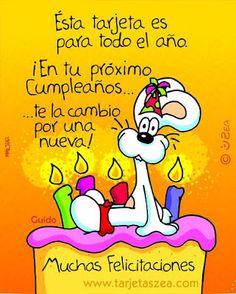 Ésta tarjeta es para todo el año #cumpleanos #feliz_cumpleanos #felicidades #happy_birthday #tarta_cumpleanos #pastel_cumpleanos #birthday_cake Spanish Birthday Wishes, Happy Birthday Messages, Happy Birthday Parties, Happy Birthday Quotes, Birthday Greetings, Happy Quotes, Hippie Birthday, Bday Cards, Happy B Day