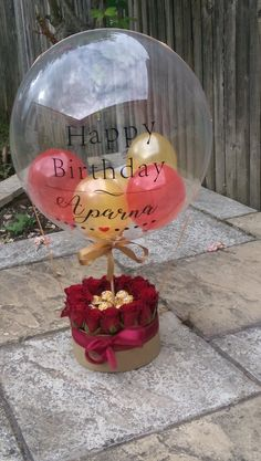 Personalised balloons, ideal for Gifts, Weddings, Parties, Corporations and more. Candy Bouquet Diy, Gift Bouquet, Balloon Flowers, Balloon Bouquet, Birthday Balloon Decorations, Birthday Balloons, Rosen Box, Balloon Gift, Balloon Surprise