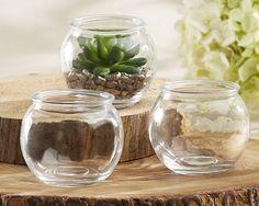 Bubble Shaped Glass Terrarium Bowl (Set of 4) | Elli.com