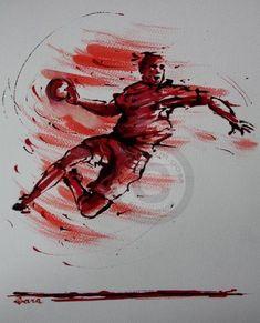 Handball Players, Pin Tool, Art En Ligne, Wall Decor Pictures, Art Original, Sports Clubs, Picture Tattoos, Art Sketches, Tatoo