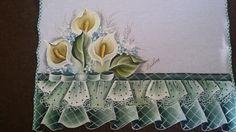 Minhas pinturas em tecido: Panos de Copa Falso Babado 3
