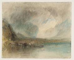 Joseph Mallord William Turner, 'Fluelen, from the Lake of Lucerne: Sample Study' 1844-5