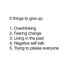 What 5 things will you give up this year?