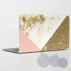 Gold Marble macbook skin Laptop Sticker Macbook Pro Air Vinyl Decal Macbook…
