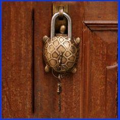 vintage quality tibet buddhist style turtle tortoise brass puzzle padlock BL 04 in Collectibles, Tools, Hardware & Locks, Locks, Keys Door Knockers Unique, Door Knobs And Knockers, Knobs And Handles, Door Handles, Cool Doors, Unique Doors, Door Detail, Door Gate, Door Accessories
