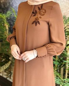 TunikYou can find Islamic clothing and more on our website. Iranian Women Fashion, Islamic Fashion, Muslim Fashion, Hijab Gown, Hijab Style Dress, Floral Dress Outfits, Mode Abaya, Mode Hijab, Abaya Fashion