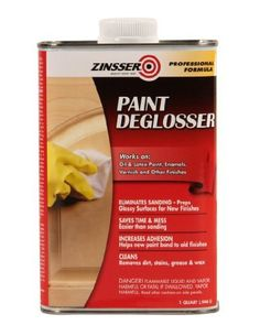 Rust-Oleum Zinsser 42124 1-Quart Paint Deglosser can be used in place of sanding baseboards!