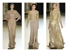 """Find wedding and bridesmaid dress inspiration in the Elie Saab Haute Couture Fall 2012 collection, """"In Constantinople's Wake,"""" with exquisite Regal Ottoman Empire and Turkish influences."""