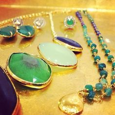 Pantone Color of the Year 2013: Emerald! Love these Stella & Dot jewels.