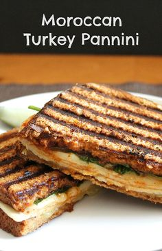 Moroccan Turkey Pannini makes use of a tasty tomato onion spread to make an easy yet creative lunch. Turkey Recipes, Lunch Recipes, Easy Dinner Recipes, Wine Recipes, Easy Meals, Cooking Recipes, Panini Recipes, Healthy Recipes, Paninis