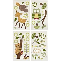 Amazon.com: Lambs and Ivy Enchanted Forest Wall Appliques, Green: Baby
