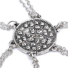 Necklace Pizza Pendant Necklaces Jewelry Party / Daily Unique Design Alloy Coppery 1pc Gift 2016 - $1.99