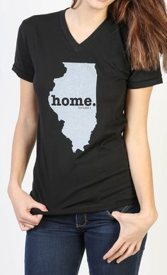 The new Illinois Home V-neck by The Home T is insanely soft, a great way to show off your state pride, and helps to raise money for multiple sclerosis research. You'll love it! They have a shirt for every state.