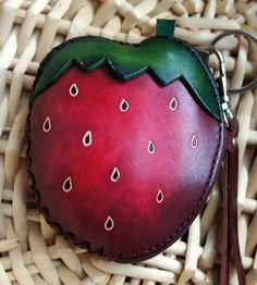 Sweet Red Strawberry Coin Purse