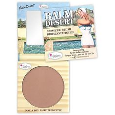 Dive right into theBalm's latest sun-kissed must-have...Balm Desert®. This blush and bronzer is specially formulated to be long-wearing and fade-resistant. Pair Balm Desert with a smokey eye and a col