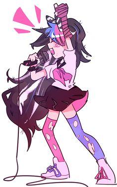 Danganronpa Ibuki, Danganronpa Game, Danganronpa Characters, Anime Characters, Ibuki Mioda, Doodle, Trigger Happy Havoc, Band Aid, Art Inspo