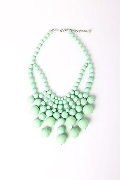 Mint Baubled Necklace