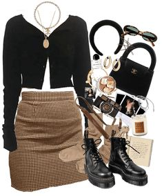 everyday outfits – cinnamon girl by lana del rey Outfit Komplette Outfits, Teen Fashion Outfits, Retro Outfits, Girly Outfits, Cute Casual Outfits, Polyvore Outfits, Look Fashion, Stylish Outfits, Winter Outfits