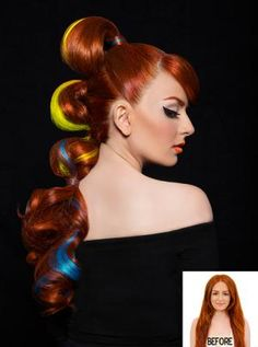 Bombshell Brunettes Pravana Pinterest #0: 7926ab a5114a5441ac aae neon colors vivid colors