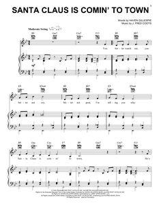 """Résultat de recherche d'images pour """"santa claus is coming to town piano sheet music"""""""