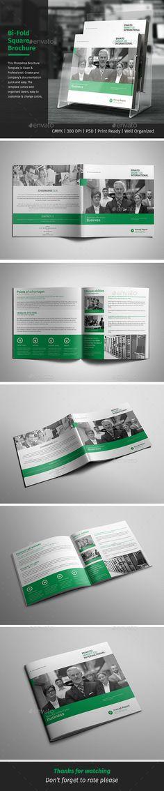 Corporate Bi-fold Square Brochure Template PSD. Download here: http://graphicriver.net/item/corporate-bifold-square-brochure-03/15658396?ref=ksioks