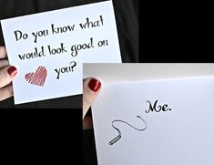 Do You know what would look good on you? Me. Funny Sexy Valentine's Day Card. Naughty!