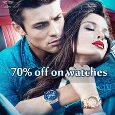 Never miss a second to add a classic yet remarkable collection of men and women watches on 70% amazing discount.  To grab the discount click here: - https://www.ittude.me/shop.html#/page/1