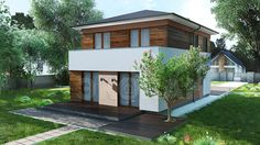 Country house 123.77 sq.m.  #buindilg #design #architecture #canadianhouse #vacationhome #countryhouse #cottage
