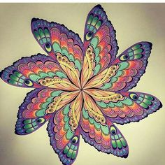 Coloring Books Colouring Colour Book Mandala Rainbows Butterflies Joyous Blooms