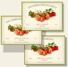 Personalized canning labels :-)