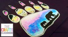 Polar Bear Paw Print Art Project Arctic Art Projects for Kids Classroom Art Projects, School Art Projects, Art Classroom, Projects For Kids, Craft Projects, Primary Classroom, Classroom Ideas, Paw Print Art, Bear Paw Print